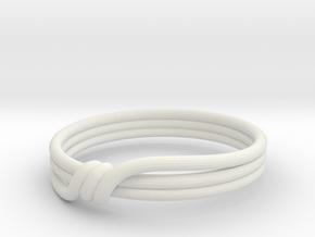 Twin Peaks wedding ring (plastic) in White Natural Versatile Plastic: 8 / 56.75