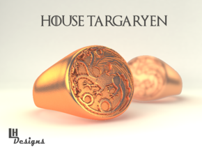 Size 7 Targaryen Ring in Natural Bronze