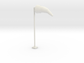 Airport Windsock and Pole 1/64 in White Natural Versatile Plastic