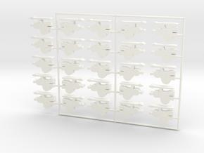 Greek Hoplite Meeple, 25-set in White Processed Versatile Plastic