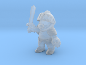 Mario Knight 1/60 miniature fantasy games rpg in Smooth Fine Detail Plastic