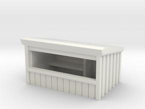 Wooden Market Stall 1/160 in White Natural Versatile Plastic