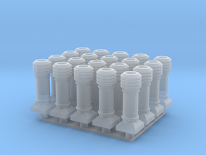 chimney devonshire group - OO in Smooth Fine Detail Plastic