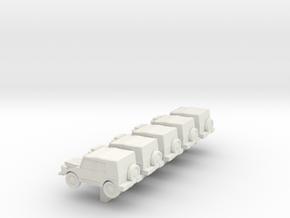 1/300 Bundeswehr DKW Munga x 5 in White Natural Versatile Plastic
