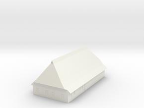 1/300 North German Timberframe Farm House - Brick in White Natural Versatile Plastic