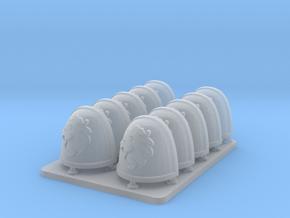 Celestial Lions v7 Rimmed Shoulderpads in Smooth Fine Detail Plastic