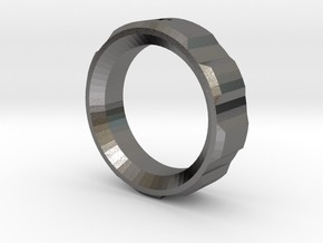 Looper Ring in Polished Bronzed Silver Steel