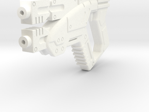 1/6 M3 Predator- Mass Effect Gun in White Strong & Flexible Polished