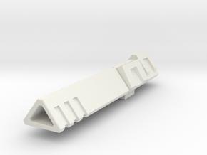 Co-Captain's Cannon (IDW Megatron's Cannon) in White Natural Versatile Plastic
