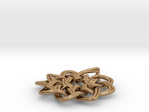 Woven Pendant in Polished Brass