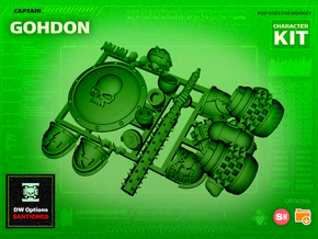 Character Kit: Captain Gohdon in Smooth Fine Detail Plastic