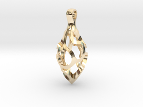 Vine Pod Pendant (Large) in 14K Yellow Gold