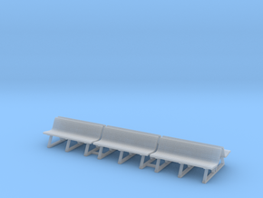 Wood Bench 01. 1:87 Scale (HO) in Smooth Fine Detail Plastic