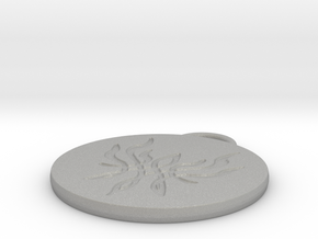 Crest of Flames Keychain - Fire Emblem Three House in Aluminum