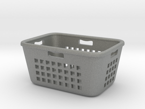 Laundry Basket 01. 1:12 Scale in Gray PA12