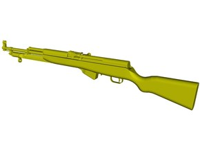 1/12 scale SKS Type 45 rifle & bayo folded x 1 in Smooth Fine Detail Plastic