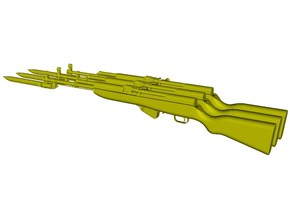 1/12 scale SKS Type 45 rifles & bayo expanded x 3 in Smooth Fine Detail Plastic