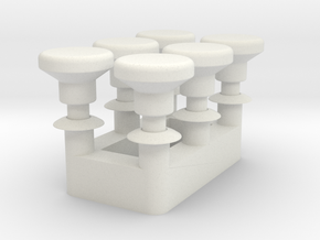 Choke Knob - Multiples in White Natural Versatile Plastic