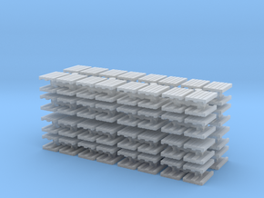 Euro Pallet (x128) 1/285 in Smooth Fine Detail Plastic