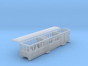 Ffestiniog Rly Barn observation coach NO.100 in Smooth Fine Detail Plastic