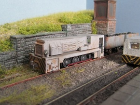 009 Huwood - Hudswell UG Diesel A  in Smooth Fine Detail Plastic