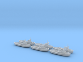 051D Project 498 Tug 1/1250 Set of 6 in Smooth Fine Detail Plastic