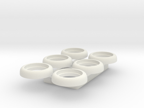 Small Axial Lens Holder - Multiples in White Natural Versatile Plastic