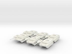 6mm Panzer IV F2 (6) in White Natural Versatile Plastic