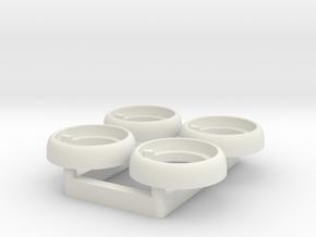 Tamiya Tundra Light Lens - Multiples in White Natural Versatile Plastic