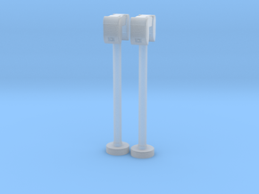 2 x Drive-In Speaker & Stand with base - 1:32 in Smooth Fine Detail Plastic