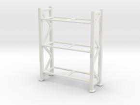 Warehouse Rack 1/76 in White Natural Versatile Plastic