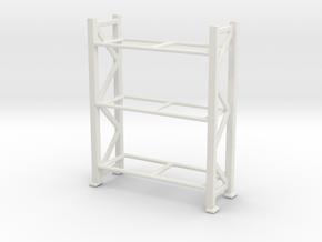 Warehouse Rack 1/72 in White Natural Versatile Plastic
