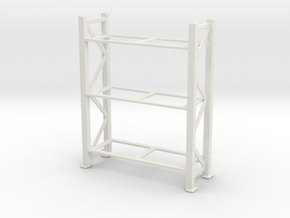 Warehouse Rack 1/48 in White Natural Versatile Plastic