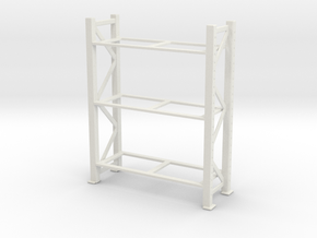 Warehouse Rack 1/43 in White Natural Versatile Plastic