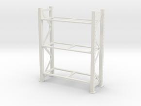 Warehouse Rack 1/35 in White Natural Versatile Plastic