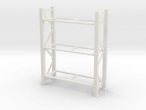 Warehouse Rack 1/12 in White Natural Versatile Plastic