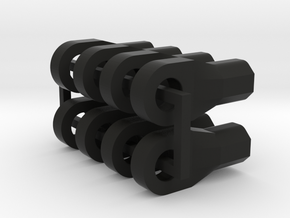 8 x M4 Thread Rod Ends for Links in Black Natural Versatile Plastic