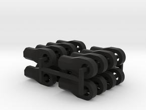 16 x M4 Thread Link / Rod Ends in Black Natural Versatile Plastic