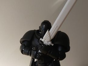 Action Figure Powersword in White Natural Versatile Plastic