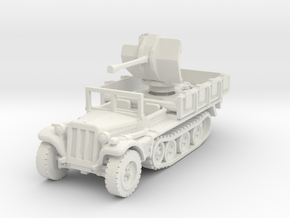 Sdkfz 10/4 B Flak 38 (window up) 1/87 in White Natural Versatile Plastic
