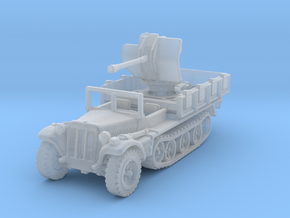 Sdkfz 10/4 B Flak 38 (window up) 1/200 in Smooth Fine Detail Plastic
