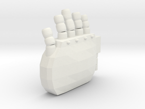 Right Hand in White Natural Versatile Plastic