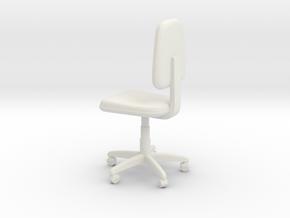 Office Swivel Chair in White Natural Versatile Plastic