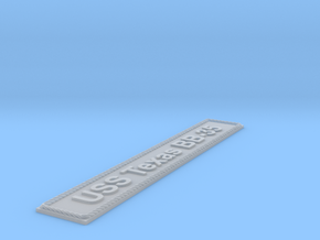 Nameplate USS Texas BB-35 (10 cm) in Smoothest Fine Detail Plastic