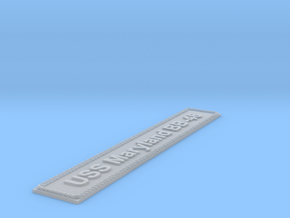 Nameplate USS Maryland BB-46 (10 cm) in Smoothest Fine Detail Plastic