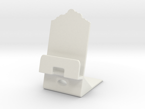 Smartphone Charging Station Clouds in White Natural Versatile Plastic
