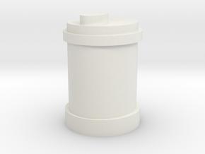 Barrel in White Natural Versatile Plastic
