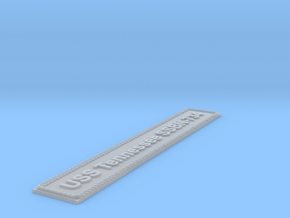Nameplate USS Tennessee SSBN-734 (10 cm) in Smoothest Fine Detail Plastic