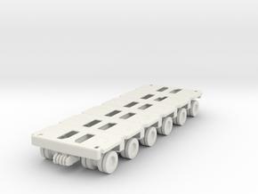Goldhofer SPMT Modular Trailer 1/72 in White Natural Versatile Plastic