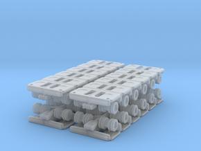 Goldhofer SPMT Modular Trailer (x4) 1/400 in Smooth Fine Detail Plastic
